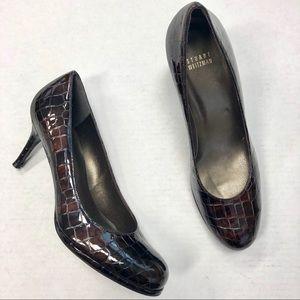Stuart Weitzman Shoes 9 Brown Patent Leather Heels